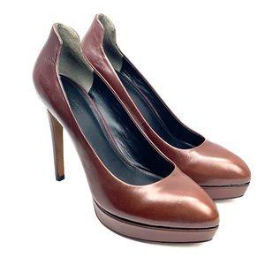 Pour La Victoire Platform Leather Heels